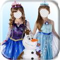 Frozen Ice Princess Photo Frame Editor