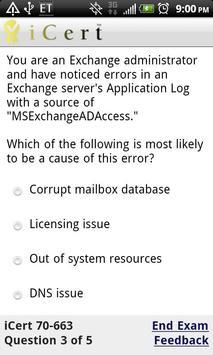 iCert 70-663 Practice Exam apk screenshot