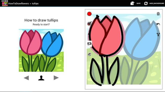 HowToDraw flowers poster