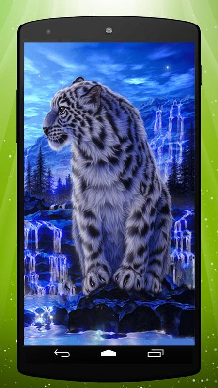 Ice Tiger Live Wallpaper Poster