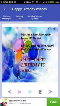 Happy Birthday GIF ecard photo frame screenshot 5