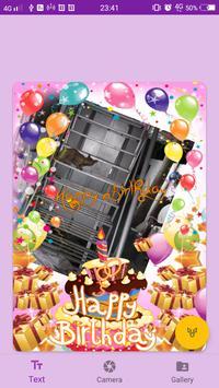 Happy Birthday GIF ecard photo frame screenshot 2