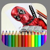 Drawing Deadpool 2017 icon