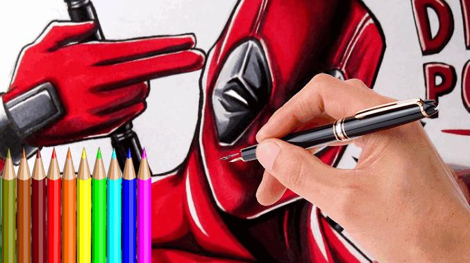 Drawing Deadpool 2017 poster