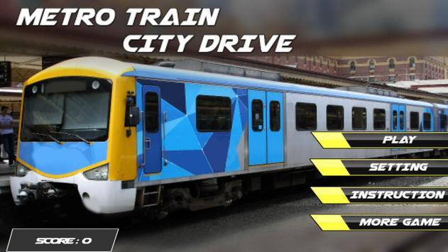 Metro Train City Drive Cartaz