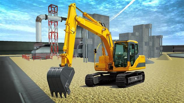 City Excavator Construction poster