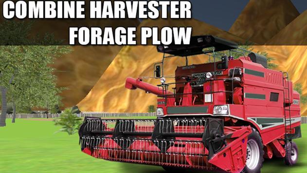 Combine Harvester Forage Plow poster