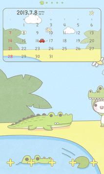 베베 악어 도돌 캘린더 테마 screenshot 1