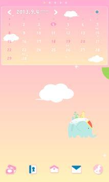 드리밍차일드 낙하산 도돌캘린더 테마 apk screenshot