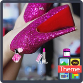 Hotpink lace icon