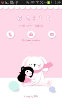 Bongja Doll go locker theme apk screenshot