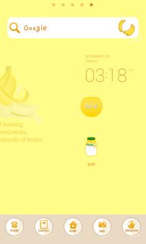 Banana dodol launcher theme apk screenshot