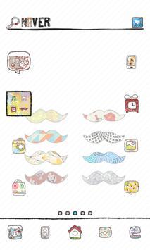 moustache dodol launcher theme poster