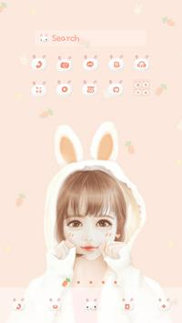 nana rabbit DodolLauncherTheme poster
