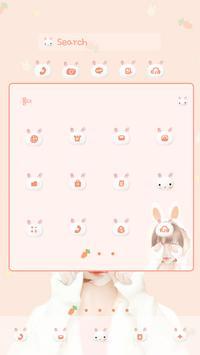 nana rabbit DodolLauncherTheme apk screenshot