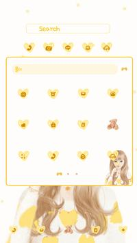 nana yellow DodolLauncherTheme apk screenshot