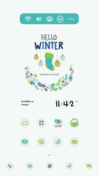 HelloWinter DodolLauncherTheme apk screenshot