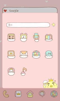 Piyo(love) dodollauncher theme screenshot 2