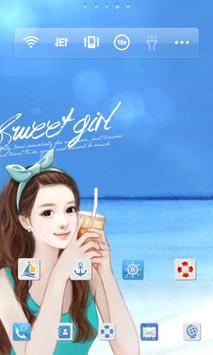 스위트걸 sunshine beach 도돌런처 테마 screenshot 1