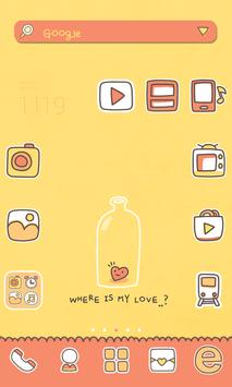 Where LUV dodol launcher theme poster