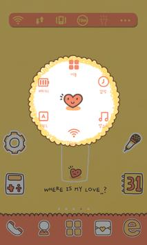 Where LUV dodol launcher theme screenshot 4