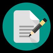 minimalistic notepad icon