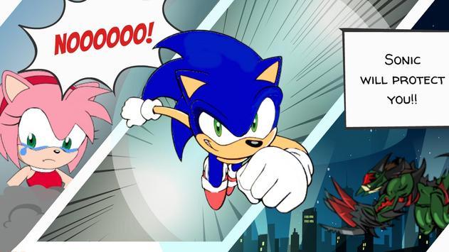 Super Sonic runner helps Amy apk screenshot