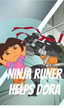 Ninja runner helps Dora screenshot 1