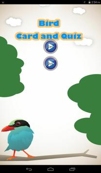 Bird Quiz and Card poster