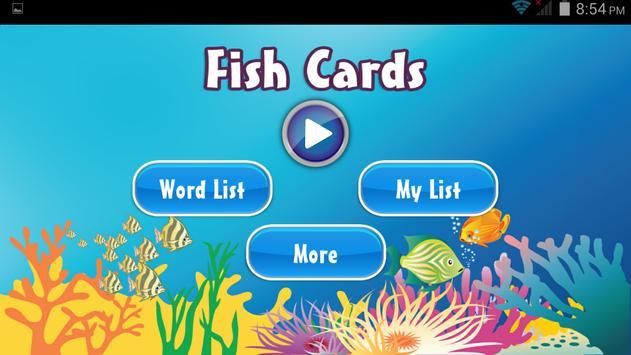 Fish card poster