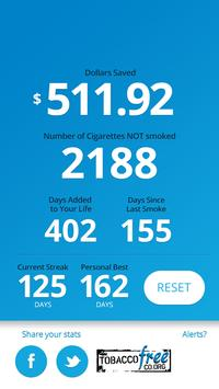 Tobacco Quit and Save apk screenshot