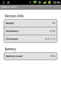 IDBLUE RFID apk screenshot