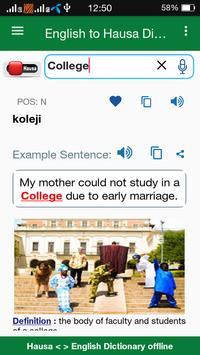 Hausa Dictionary Offline poster