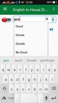 Hausa Dictionary Offline apk screenshot