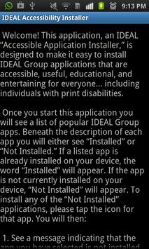 IDEAL Accessible App Installer poster