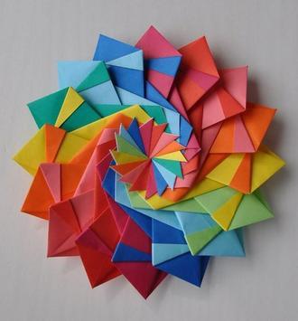 idea origami tutorial poster