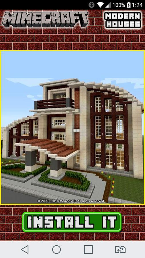 Home Design Ideas App: Modern Minecraft House Design Ideas For Android