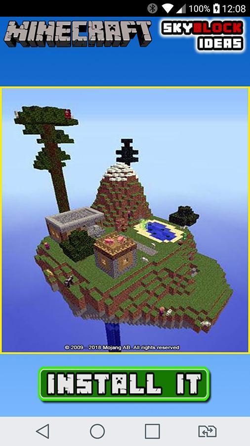 SkyBlock Minecraft 2018 Survival Island Ideas for Android