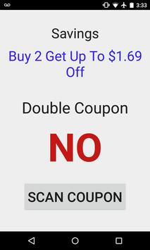 Double Coupon Checker apk screenshot
