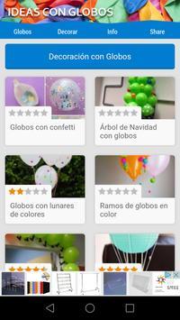 Ideas con globos poster