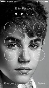 Justin Bieber Lock Screen Walpaper poster