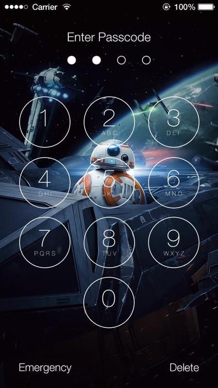 Star Wars The Last Jedi HD Wallpapers Lock Screen Screenshot 6