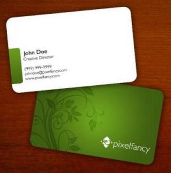 Minimalist Name Card Design screenshot 1