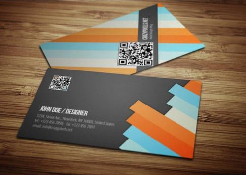 Minimalist Name Card Design screenshot 2