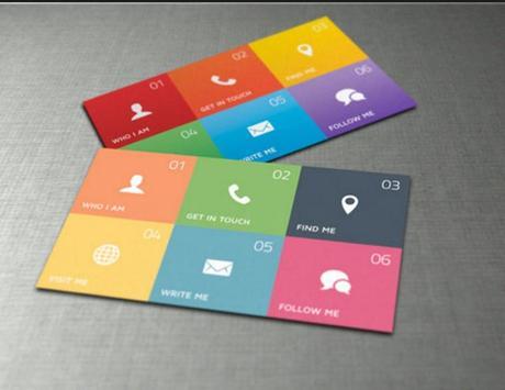 Minimalist Name Card Design screenshot 3