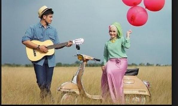 the idea of pre wedding photo islamic poster