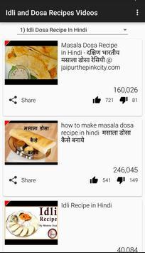 Idli and Dosa Recipes Videos apk screenshot