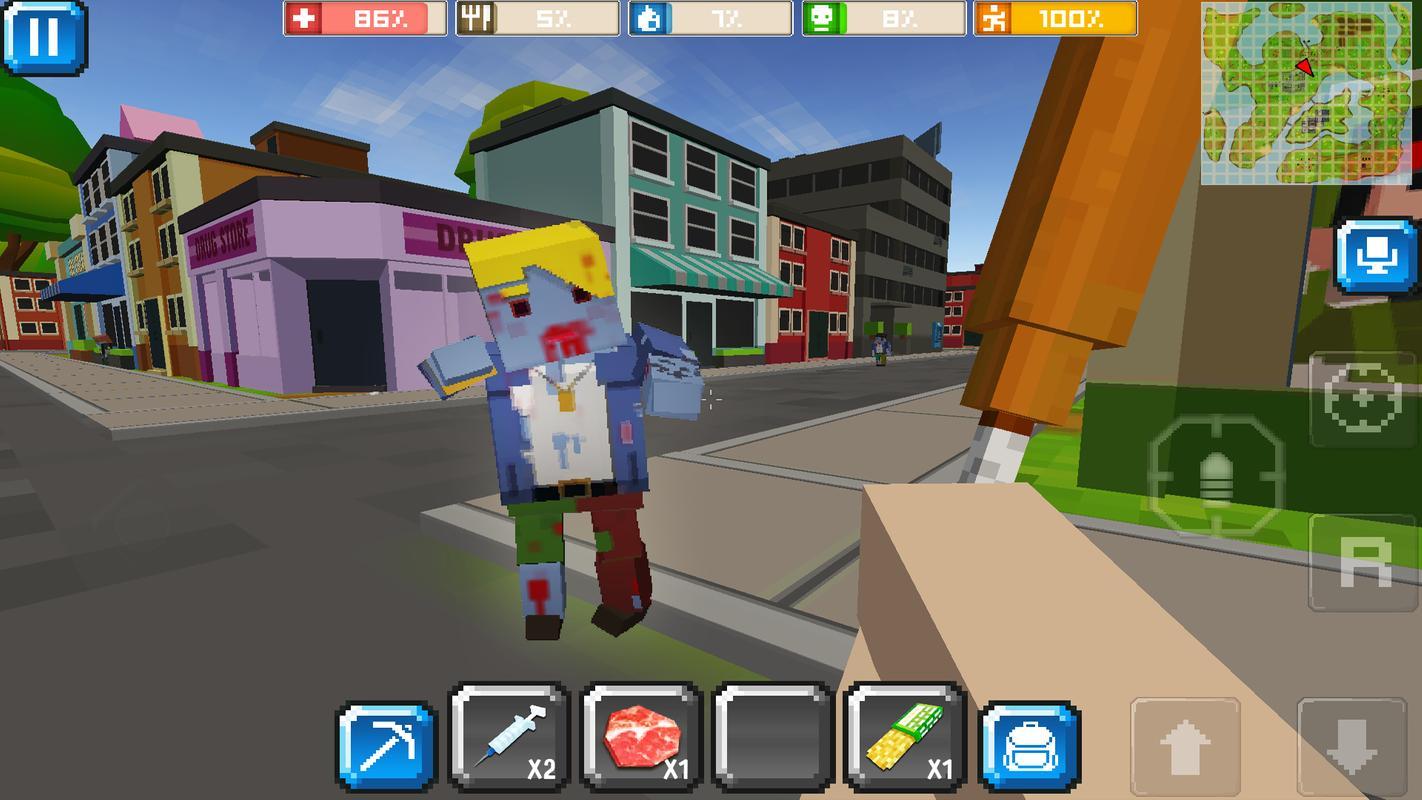Cube Z Pixel Zombies Descarga Apk Gratis Accion Juego Para