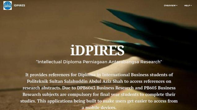 iDPIRES screenshot 1