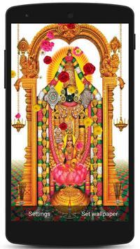 Tirupati Balaji Live Wallpaper poster